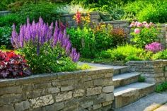 Find Natural Stone Landscaping Home Garden Steps stock images in HD and millions of other royalty-free stock photos, illustrations and vectors in the Shutterstock collection. Thousands of new, high-quality pictures added every day. Stone Landscaping, Small Backyard Landscaping, Landscaping Ideas, Backyard Ideas, Residential Landscaping, Natural Landscaping, Landscaping Software, Landscaping Company, Raised Flower Beds