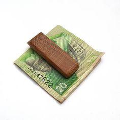 wlkr / Drevené spony na peniaze / Dubová spona na peniaze Card Case, Card Holder, Rolodex