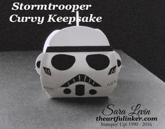 Sara Levin | theartfulinker.com Inspired by the new Star Wars - The Force Awakens, here's a Stromtrooper Curvy Keepsake Box.  Perfect for a party favor or fun handmade gift box.