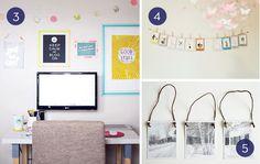 Alternative ways to hang art and photos.