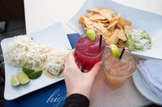Delicious drinks and appetizers at High Rooftop Lounge in Venice Beach, Ca.