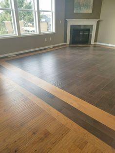 Hardwood border design in 2019 Wood floor design, Dark