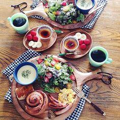 @tami_73 Fat Coffee, Japanese Kitchen, Japanese Food, Luxury Food, Cafe Menu, Cute Food, Good Food, No Cook Meals, Kids Meals