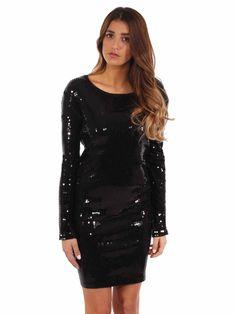 MICHAEL Michael Kors | Sequin Dress in black www.sabrinascloset.com