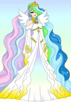 MLP - Human Celestia by Sailor-Serenity on deviantART