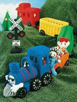 Crochet Train set, so cute!