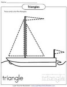 Worksheets Preschool and Triangles