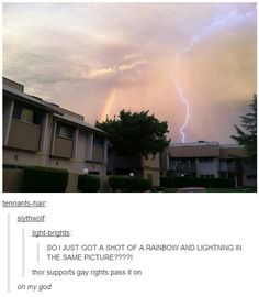 """This well-timed photo that clears something up about Thor. 