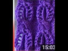 Ajurlu Burgu Modeli - YouTube Baby Knitting Patterns, Knitting Stitches, Stitch Patterns, Crochet Motif, Knit Crochet, Knitting Videos, Diy And Crafts, How To Knit, Knitting Patterns