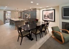 Porch   West Village Townhouse Open Plan Kitchen from LMA Group Inc. Modern Dining Room Tables, Dining Table, West Village, Dream Kitchens, Open Plan Kitchen, Outdoor Spaces, Townhouse, Kitchen Remodel, Porch