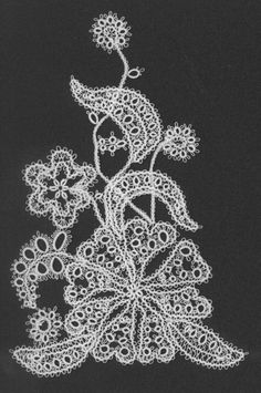 I designed and tatted this lace as part of the many motifs that went on my niece's wedding dress.  Made of Coron Cotton size 160.  Mark, aka Tatman:  http://www.tat-man.net