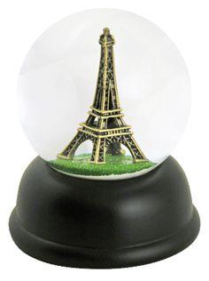 Eiffel Tower - Paris snow globe from  snowdomes.com