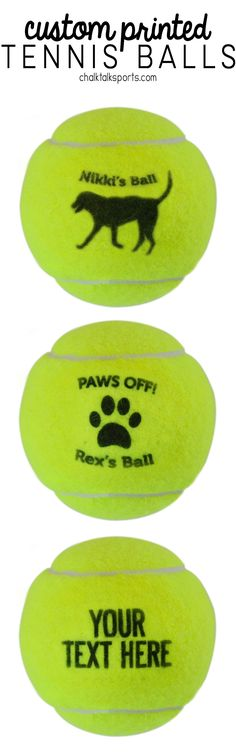 Never lose your best friends favorite tennis ball again! Custom printed tennis balls are a unique gift idea for dog lovers!
