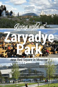 Newly opened near Red Square in Moscow Zaryadye Park features a variety of different terrains, great views of the Kremlin, a floating bridge, an ice cave and an all weather outdoor amphitheatre. #moscowtraveltips