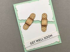 Featuring Jillibean Soup Stamps - Get Well - See how I created this cute and quick Get Well Soon Card!