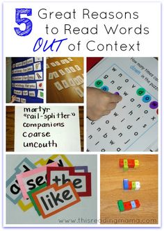 5 great reasons to read words OUT of context | Teach Mama ~ guest post of This Reading Mama