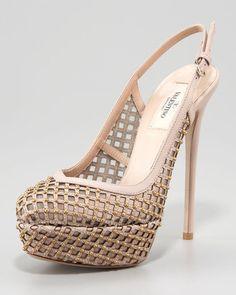 love lattice shoes! #Valentino
