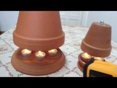 Table heating differences in construction - / in comparison - tealight oven Alternative heating method – 4 important tips so that the candle stove can heat properly – self Shabby Chic Table Lamps, Rustic Table Lamps, Candle Lamp, Candles, Candle Heater, Candle Power, Copper Lamps, Industrial Lamps, Lamp Makeover