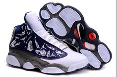 Jordan Shoes Air Jordan 13 Embroidery Navy Blue Grey Red [Air Jordan 13 - Clean and clear Air Jordan 13 Embroidery Navy Blue Grey Red shoes showed here will make you be pleased. The embroidered side panels add much beauty and charm to the Air Jordan 1 Jordan 13 Shoes, Michael Jordan Shoes, Air Jordan Sneakers, Nike Air Jordans, All Jordans, Nike Air Jordan Retro, Sneakers Mode, Sneakers Fashion, Buy Sneakers