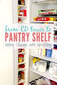 Turning a CD Tower into Pantry Storage