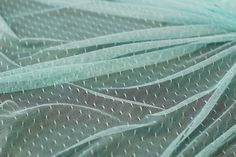 1 Meter of Very Soft Mint Dotted Tulle