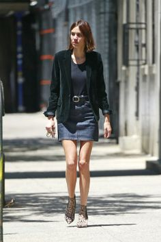 Alexa Chung out and about in New York on June 10, 2016