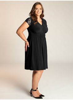 Virginia Plus Size Dress in Black - Evening Dresses by IGIGI