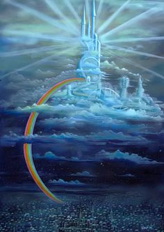 In germanic mythology Bifroest is a rainbow-bridge, which ist the way between the world of gods (asgard) and mankind (midgard) Asgard Marvel, Norse Mythology, Rainbow Bridge, Statue Of Liberty, Vikings, Fantasy Art, History, World, Travel