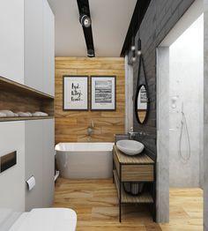 Łazienka w industrialnym klimacie.