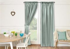 Provence Duck Egg Curtains