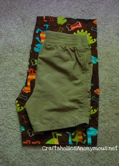How to make kids shorts without a pattern.