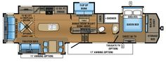 2017 North Point 377RLBH Floorplan - too heavy but beautiful layout
