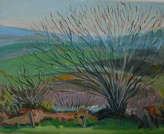 Lettergorman Landscape, oilon by Irish landscape artist Anastasia O Donoghue Healy# Westcork Irish Landscape, Anastasia, Artist, Painting, Board, Artists, Painting Art, Paintings, Painted Canvas