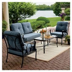 Four Seasons Courtyard Lucia Deep-Seating Set, Steel, Padded, 4-Pc.: Model# 714.005.000 | True Value