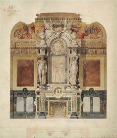 10. Ambroise Baudry (La Roche-sur-Yon 1838 – Paris 1906), Une cheminée dans une galerie, 1er Prix Rougevin 1864.