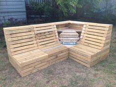 Outdoor Lounge with hidden cooler bucket. Check Tastee Pallé on FB