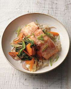Baked Salmon with Coconut Broth | Whole Living