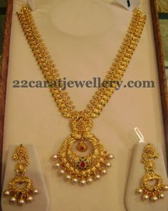 Mango Necklace with Chandbali Locket | Jewellery Designs
