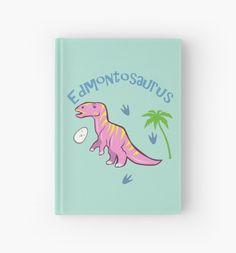 Cute Edmontosaurus Hardcover Journal #dinosaurs #edmontosaurus #hadrosaur #duckbill #pink