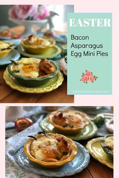 The bacon asparagus egg mini pies are made with Pillsbury™ Refrigerated Original Crescent Rolls, smoked crispy bacon slightly peppered, roasted asparagus, fresh farm eggs and shredded gruyere cheese via ~ AD Healthy Egg Recipes, Easter Recipes, Pork Recipes, Holiday Recipes, Waffle Recipes, Brunch Recipes, Breakfast Recipes, Crescent Roll Recipes, Crescent Rolls