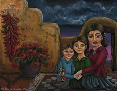 Tres Mujeres Three Women Painting by Victoria De Almeida - Tres Mujeres Three Women Fine Art Prints and Posters for Sale New Mexican, Mexican Art, Victoria, Hispanic Culture, Indian Rugs, Painting Of Girl, Southwest Art, Sale Poster, Beautiful Family