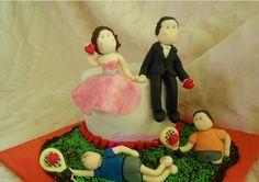 Tarta de fondant de boda