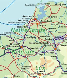 map of netherlands and belgium Benelux Railway mapBelgium the