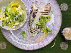 Marinierte Tilapiafilets - mit Palmherzen-Mango-Salat - smarter - Kalorien: 291 Kcal - Zeit: 1 Std.  | eatsmarter.de Durch die Mango bekommt dieses leckere Gericht eine exotische Note.