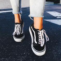 Vans Old Skool Core Black Trainers | Urban Outfitters | Women's | Shoes | Trainers #urbanoutfitterseu #uoeurope