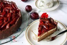 Chocolate Vanilla Cheesecake mit Portwein-Zwetschgen
