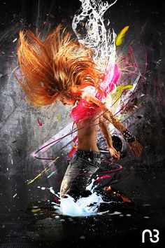 Personal project - Dancer girl photo manipulation with photoshop Dance Photography, Creative Photography, Photography Editing, Photography Tutorials, Digital Photography, Portrait Photography, Montage Photo, Hip Hop Art, Dance Poses
