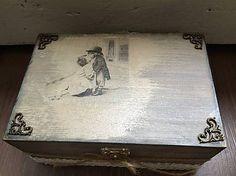 #FidArt #Vintagebox #woodenbox #decupage