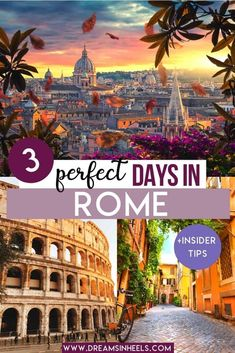 Are you visiting Rome for the first time and searching for the best things to do in Rome in 3 days? In this post, you can find a curated 3 days in Rome Itinerary with tons of ideas for every kind of traveler, including pro tips to make planning your trip to Rome easier. #RomeItaly #RomeTravel #RomeItinerary #Rometips | Rome itinerary | Rome travel | Italy travel | Rome aesthetic | Rome Italy photography | Rome Photography | Rome Italy things to do in | Rome Italy aesthetic | #dreamsinheels
