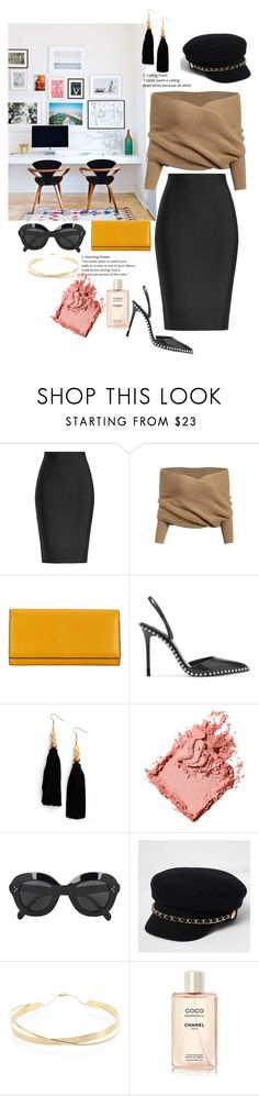 """""""Working"""" by borjascindy ❤ liked on Polyvore featuring Roland Mouret, Valextra, Alexander Wang, Ink + Alloy, Bobbi Brown Cosmetics, CÉLINE, River Island and Lana Jewelry"""
